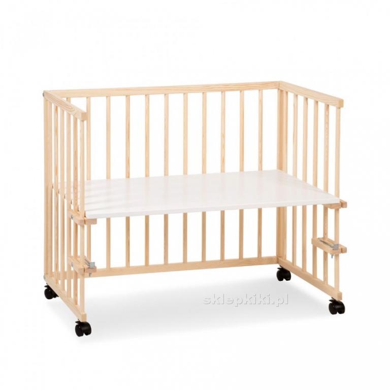 Klupś łóżeczko Dostawne Piccolo Due Sosna 90x45 łóżeczka